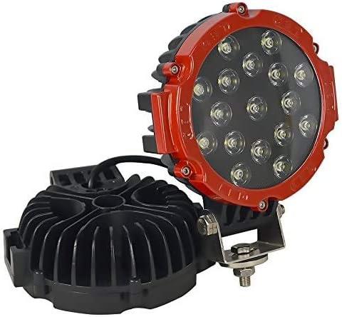 Willpower 2x LED Arbeitsscheinwerfer 18CM 51W Offroad Flutlicht Scheinwerfer 12V 24V R/ückfahrscheinwerfer Wasserdicht IP67 6000K Zusatzscheinwerfer Led f/ür Auto Traktor Truck SUV UTV ATV Rot