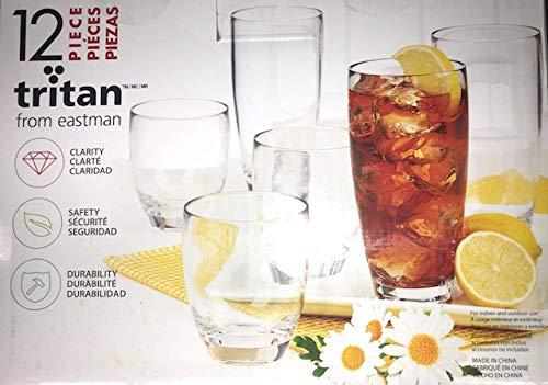 Tritan from Eastman 12 pc Unbreakable Drinkware set, BPA Free (CLEAR)