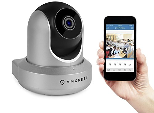 Amcrest ProHD 1080P WiFi Wireless IP Security Camera - 1080P (1920TVL), IP2M-841 (Silver)