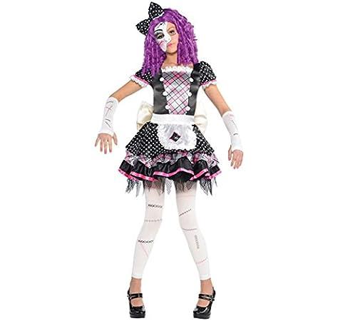 amscan - Disfraz para niña con diseño muñeca de porcelana, talla 8-10 años (999686): Amazon.es: Juguetes y juegos