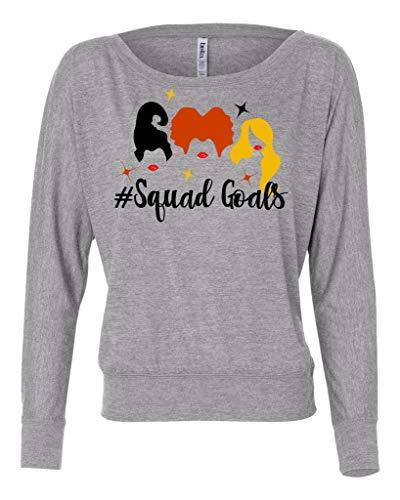 LivingTees Sanderson Sister Hocus Pocus #Squadgoals Long Sleeve Shirt