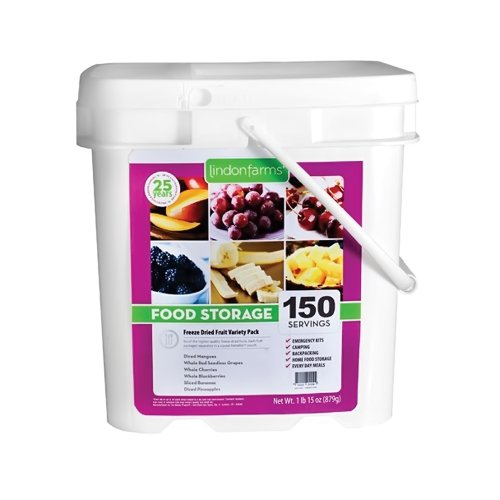 Lindon Farms 150 Tropical Freeze Dried Fruits Snack Meal Earthquake Evacuation Disaster Preparedness Travel Longterm Food Storage - Emergency Kids Grape