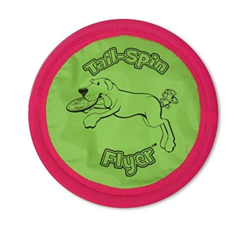 Petmate Booda Tail-Spin Flyer Floating Dog Frisbee 3 Sizes Available (Dog Booda Toy)