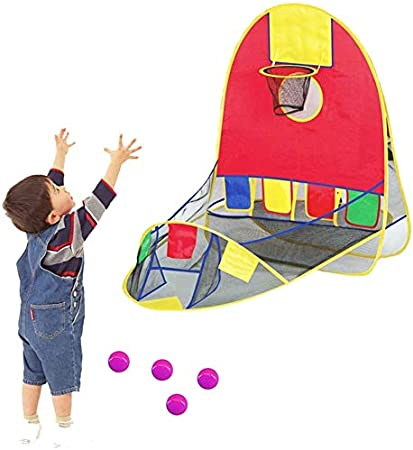 Portable Ball Shooting Tent, Kid Foldable Pop Up Playing