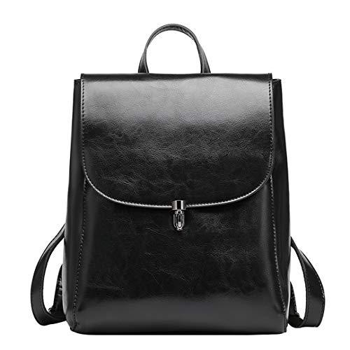 - Genuine Leather Backpacks Ladies Casual Vintage Cowhide Travel Backpack Oil Wax Leatherbackpack