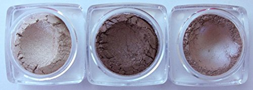 Shadow Brush Mineral - Grace My Face Minerals Glamour Eye Shadow, Soft Brown Trio