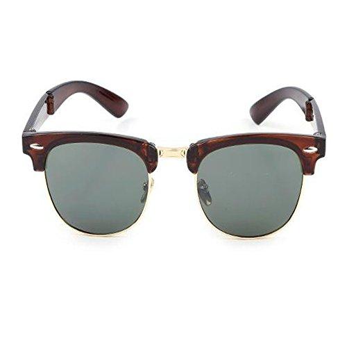 Classique fatigue et pour lunettes Lunettes Plier Anti Femme Portable soleil UV Anti Des Cadre Mode Hzjundasi Homme de de Rtero C6 Charnière soleil 8qCH6cxAw