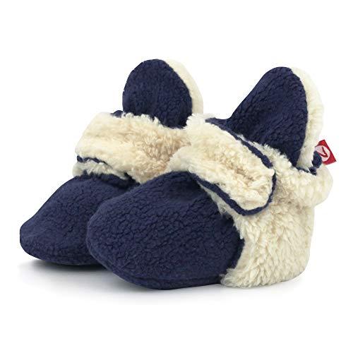 - Zutano Unisex Baby Fleece w/Furry Baby Booties, 3M, True Navy Furry