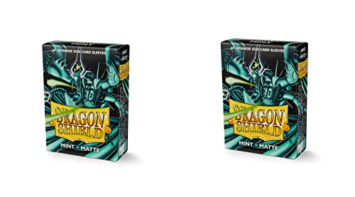 2 Packs Dragon Shield Matte Mini Japanese Mint 60 ct Card Sleeves Value Bundle!