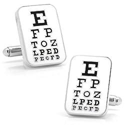 Eye Chart Cufflinks Novelty 1 x 1in