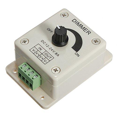 DC 12-24V 8A Adjustable Dimmer Switch Control for Single Color LED Strip