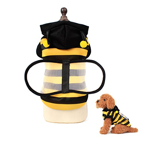 Dog Costumes Black and Yellow Stripe Bee T-shirt Clothes for Small Medium Large Dogs xs-xl (M)