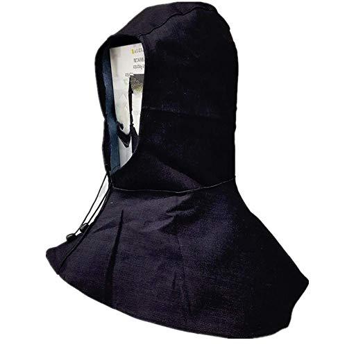 (LALICORP Denim Blue Fabric Welder Head Cap Flame Retardant Helmet Hat Welding Head Neck Protective Hood Welder Safety Cover)