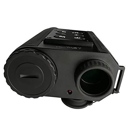 AMTAST Laser Ranging Night Vision, Single Tube Infrared Microlight Night Vision, Multifunction Monocular
