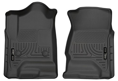 Liners Piece Front Floor 2 - Husky Liners Front Floor Liners Fits 14-18 Silverado 1500, 15-19 Silverado 2500/3500, 19 Silverado 1500 LD, 19 Sierra 1500 Limted