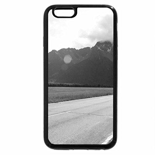 iPhone 6S Case, iPhone 6 Case (Black & White) - Pioneer Peak Alaska