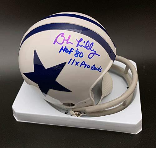 Bob Lilly Autographed Signed Tb Dallas Cowboys Mini Helmet Hof 80 11 X Pro Bowl Itp Psa/Dna