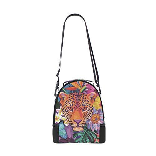 pour pique à Floral réglable Tigre Tropical Sangle déjeuner Cooler Flowers nique double animaux Sac épaule gxZO4