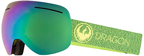 Dragon Alliance X1 Ski Goggles, Large, Multicolor, Mill/Luma Green Ion - X1 Dragon