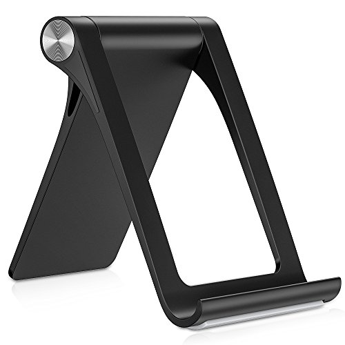 TORRAS Cell Phone Stand for Desk, 360° Adjustable Desktop Cradle Holder Compatible for iPhone Xs/Xs Max/XR / X / 8/7 / 6 Plus, Samsung Galaxy Note 9 / S9 / S9 Plus / S8, iPad Mini - Black ()