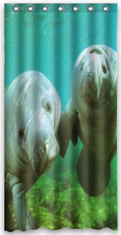 Amazon Top Design Manatee Shower Curtain 36w X 72h