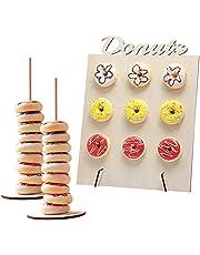 Gukasxi 3 Sets Donut Muur Stand Display Goud Verijdeld Behandel Yourself Donut Muur Party Display,Herbruikbare Donut Houder Board om Donut Grow Up Party Decoratie voor Dessert Tafel