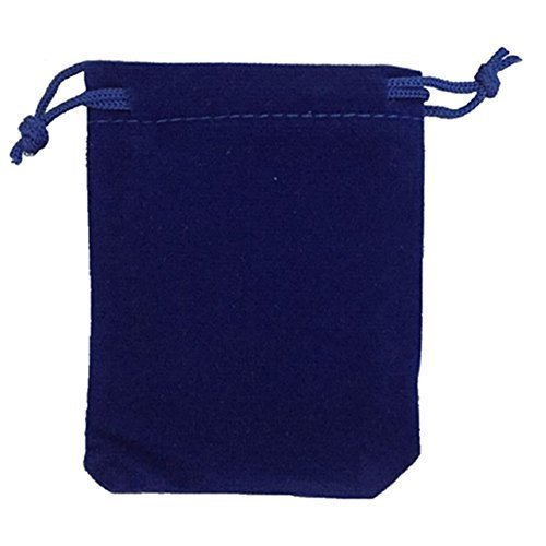 Ellami 80 Pieces Wholesale Lot - Royal Blue Velvet Cloth Jewelry Pouches / Drawstring Bags 4