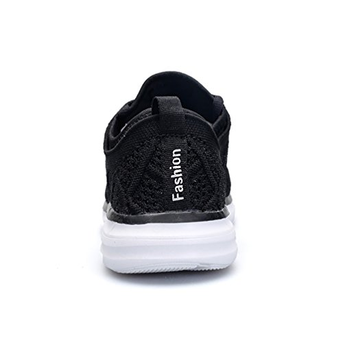 Trainers Womens Flyknit Black 3D Trainers Running Breathable HQUEC Casual Sports Gym Lightweight 1RqwCwHf