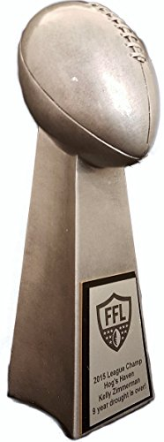 "Fantasy Football Trophy - 14"" Lombardi Replica Trophy - Click to Customize!"