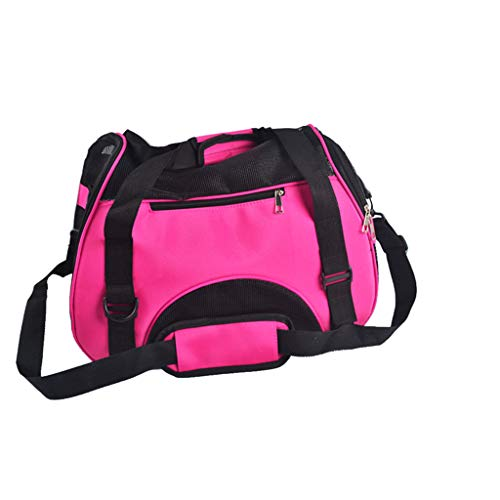 Lebeauty Soft-Sided Pet Carrier, Airline Approved,Low Profile Travel Tote Cat Dog Puppy Comfortable Portable Collapsible Pet Bag Travel Friendly 15.7″ x 11.8″ x 7.8″ (Pink)