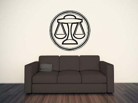 Libra bilancia giustizia segni zodiacali arte parete parete adesivo