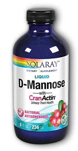(Solaray D-Mannose with Cranactin Cranberry Extract, Unflavored, White, 8 Fluid Ounce)