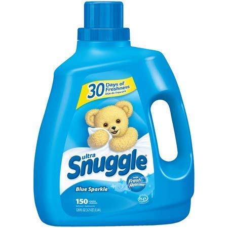 PACK OF 4 - Snuggle Liquid Fabric Softener, Blue Sparkle, 120 Ounce, 150 Loads