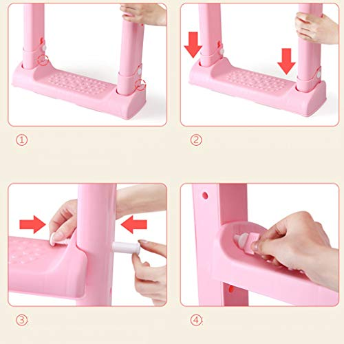 XWJC Children's Toilet Toilet Baby Toilet Seat Baby Toilet Ladder Child Toilet Seat Soft Cushion (Color : Pink) by XWJC (Image #6)