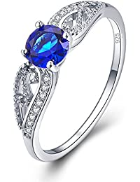 925 Sterling Silver Created Rainbow Topaz Filled Promise Ring for Her