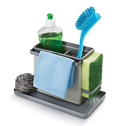 Tidy-Tex Kitchen Sink Cleaning/Washing Up Organiser, Grey