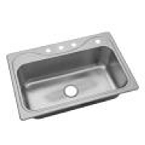 Sterling 37047-4-NA Southhaven 33-inch by 22-inch Top-mount Single Bowl Kitchen Sink, Stainless Steel (Single Mount 22 Top)