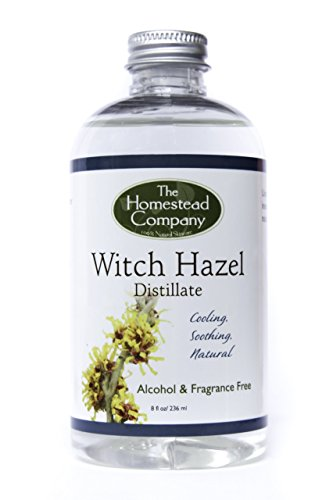 Witch Hazel Distillate (Alcohol Free & Fragrance Free) Bundle: Witch Hazel Distillate + Facial Cleansing Cotton Pads (100 pack) - Distillate Water