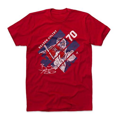 500 LEVEL Braden Holtby Cotton Shirt Large Red - Washington Hockey Men's Apparel - Braden Holtby Stripes B WHT