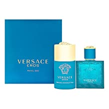 Versace Eros for Men 2 Piece Set Includes: 1.7 oz Eau de Toilette Spray + 2.5 oz Deodorant Stick