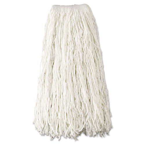 Rubbermaid Commercial Economy Wet Mop Heads, Rayon, Cut-End, White, 24 oz, Rayon, 1-in. White Headband - Includes 12 per case. by Rubbermaid Commercial
