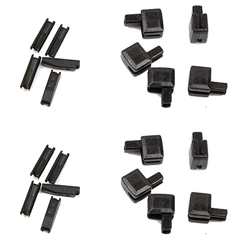 Trycooling 20Pcs Metal Zipper Latch Slider Retainer Insertion Pin Easy for Zipper Repair Zipper Repair Kit (#5) (Black) ()