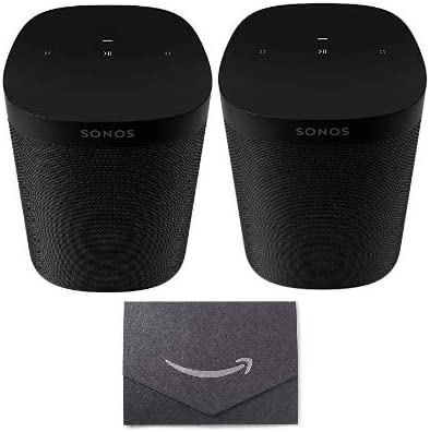 Sonos One SL - Microphone-Free Smart Speaker Black 2 with 10 Gift Card