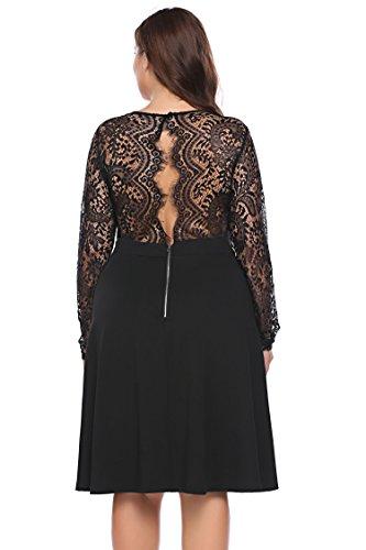 long sleeve a line cocktail dress - 9