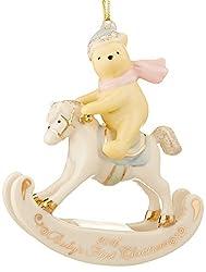 Lenox 2016 Winnie The Pooh Baby's 1st Christmas Ornament