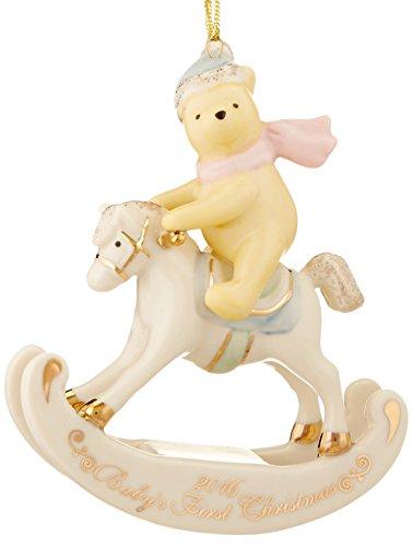 Lenox 2016 Winnie The Pooh Baby's 1st Christmas Ornament Baby's First Christmas Ornament Lenox