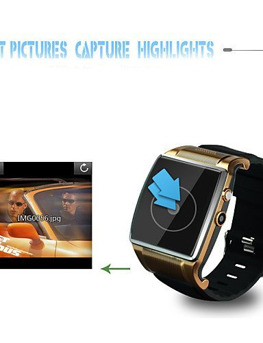 2015 New Smart Watch Phone ios Android Slim Touchscreen Bluetooth Watch Waterproof Camera , silver-rubberband