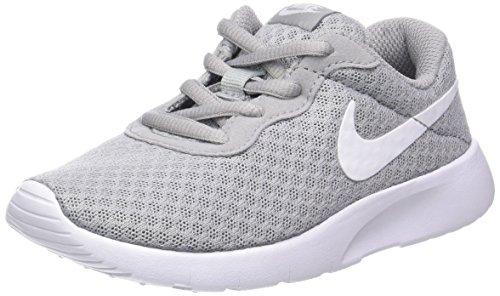 Nike Boys Tanjun Running Sneaker Wolf Grey/White/White 10.5C Deep Range Basketball Shoe