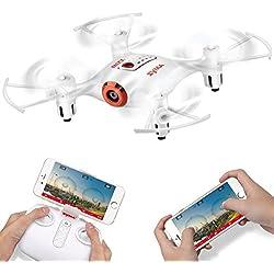 Syma X21W Wifi FPV Mini Drone With Camera Live Video LED Nano Pocket RC Quadcopter With GYRO App Control White