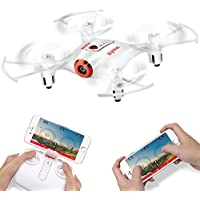 Syma X21W Wifi FPV Mini Drone With Camera Live Video LED Nano Pocket RC Quadcopter With GYRO App Control White
